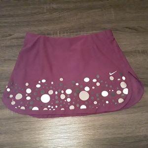Nike Women's Purple Polkadot Tennis Skirt